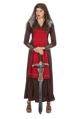 WIL - Damen Kostüm Wikingerin Kleid Karneval Fasching (Weibliche Larp Kostüm)