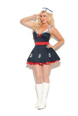 Elegant Moments Plus Size Sailor's Delight Sailor Girl Halloween Costume - Girls Plus Size Halloween Costumes