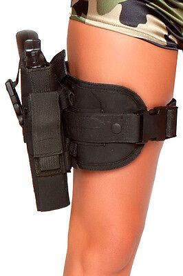 Beinholster mit Pistole für Polizei Kostüm Police Cop Outfit Pistolenholster (Kostüm Pistolenbeinholster)