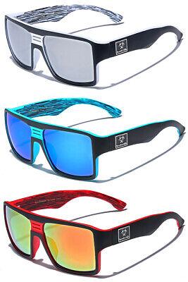 Retro Sport Square Flat Top Mens Mirrored Sunglasses Baseball Cycling (Top Cycling Glasses)