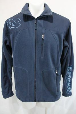 Full Zip Heels (CAROLINA TAR HEELS Fleece/Nylon COLUMBIA Full Zip Casual Jacket M)