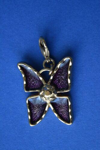 Vintage Yves Saint Laurent Enamelled Butterfly pendant jewelry