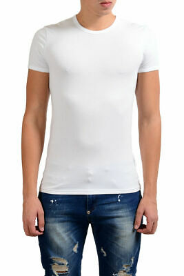 Versace Collection Men's White Stretch Crewneck Short Sleeve T-Shirt XS S M L XL