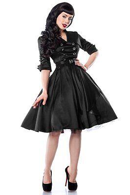 50er Jahre Pin Up Vintage Rockabilly Kleid Tanzkleid oder Petticoat Rock schwarz (50er Jahre Pin Up Kleid)