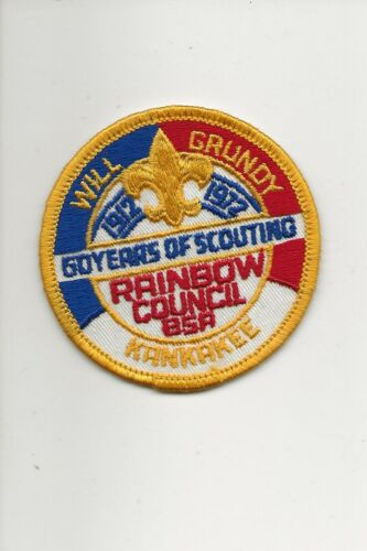 RAINBOW  COUNCIL / 1972  60 years of Scouting  patch - Boy Scout BSA A132/7-4