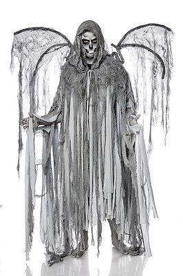Disfraz De Halloween Para Hombres (Sexy Halloween Disfraz para Hombre Ángel de Muerte Talla Única Manto + Alas)