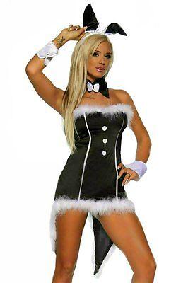 IAL 12496 BUNNY Kostüm Hase Häschen Minikleid mit - Bunny Kostüme Kleid