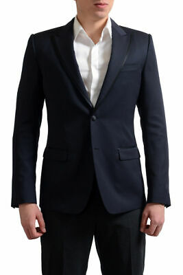 Dolce & Gabbana Tailored Men's Navy Wool Silk Sport Coat Blazer US 38 42 46 Dolce And Gabbana Mens Suits