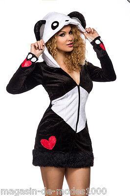 Pandabär Kostüm  Halloween Fasching Karneval Gr.34-36-38