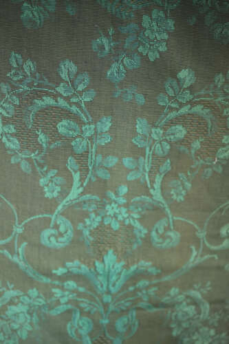 Vintage French DAMASK cotton CANTONNIERE PORTIERE deconstructed c 1930