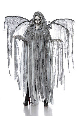 IAL 80089 Angel of Death Komplettset Damen Kostüm Engel Geist Flügel Halloween