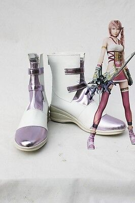 Final Fantasy XIII-2 FF 13-2 Serah Farron Cosplay Schuhe Kostüm Shoes (Final Fantasy Serah Kostüme)