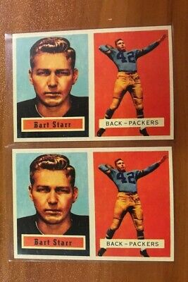 1957 BART STARR Rookie Rc Lot 2 # 119 Hofer Green Bay Packers Rp