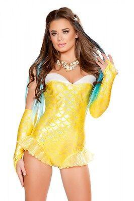 Meerjungfrau Mermaid Kostüm Overall gelb Fasching Karneval - Gelbe Overall Kostüm