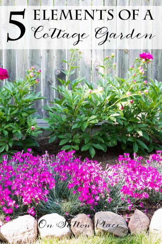 5 elements of a cottage garden ebay for Cottage garden designs australia
