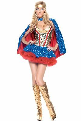 Be Wicked Costume Collection Womens Sexy 3 Piece Hero -