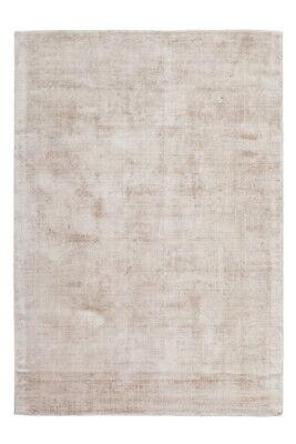 Flachflor Teppiche 100% Viskose Handgewebt Kurzflorteppich Elfenbein Taupe
