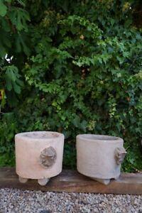 Concrete handmade garden pots