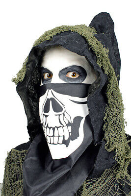 Masken Tuch Dreieckstuch Skelett zum Umbinden Halloween Kostüm