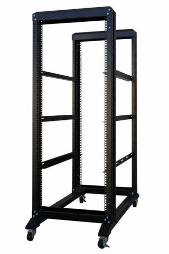 4-Post 27U Adjustable Open Frame Server Rack IT Network Relay IT 800mm  Casters