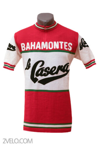 LA CASERA Bahamontes vintage wool jersey, new, never worn L