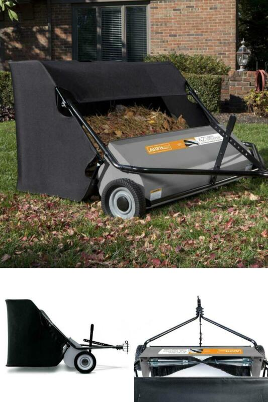 Lawn Sweeper Tow Behind 42 Inch 22 Cubic Foot Tractor Mower