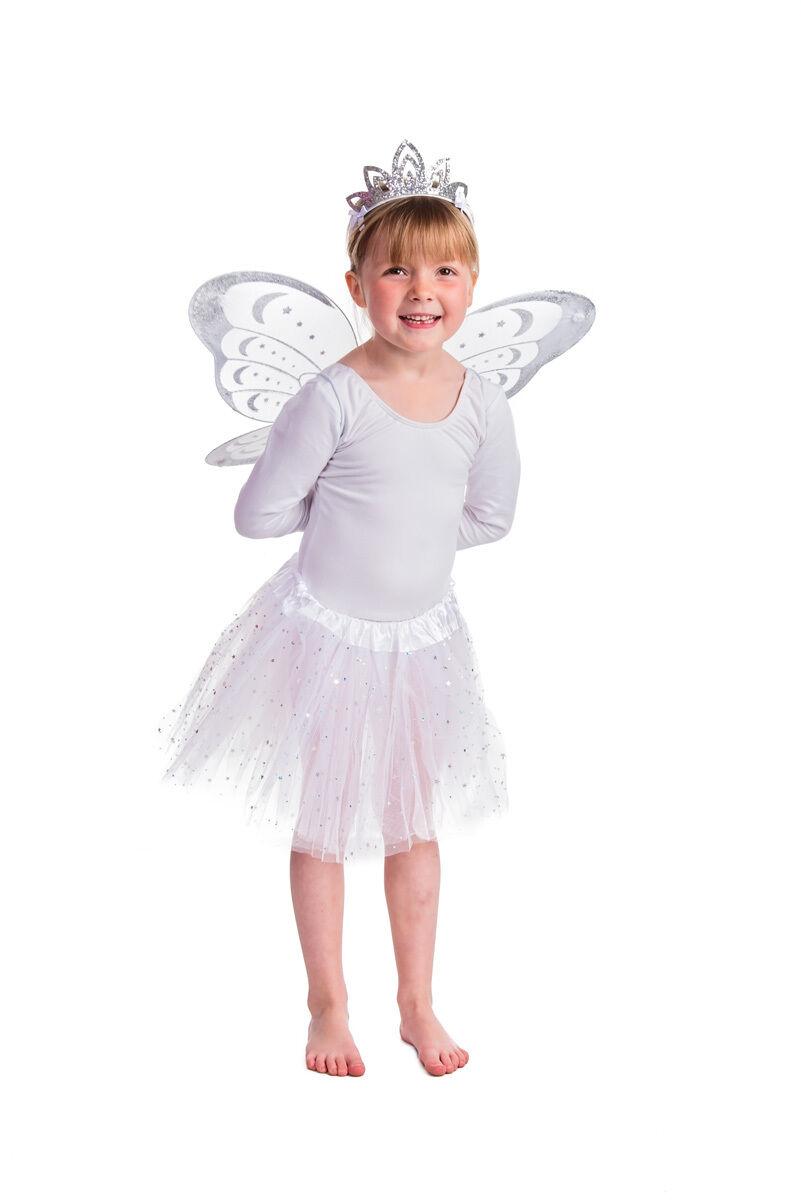 Fairy Princess Dress Up 4 Piece Fairy Set Many Colours Wings Wand Tutu WHOLESALE