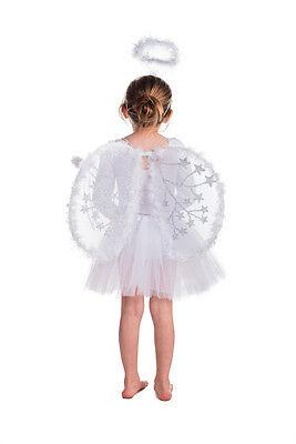 Die Fee Prinzessin, Mädchen Weiß Weihnachten Engel Kleid Fee Set