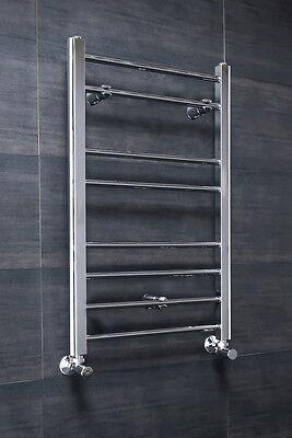 Bathroom Chrome Straight Heated Towel Radiator Rail 800 x 500 - 10 YR GUARANTEE