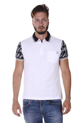 Versace Jeans Polo Shirt REGULAR Cotton Man Whites B3GQA7PE 3