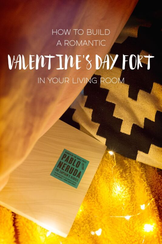 How to build a romantic valentine 39 s day fort in your living room ebay for How to make a fort in the living room