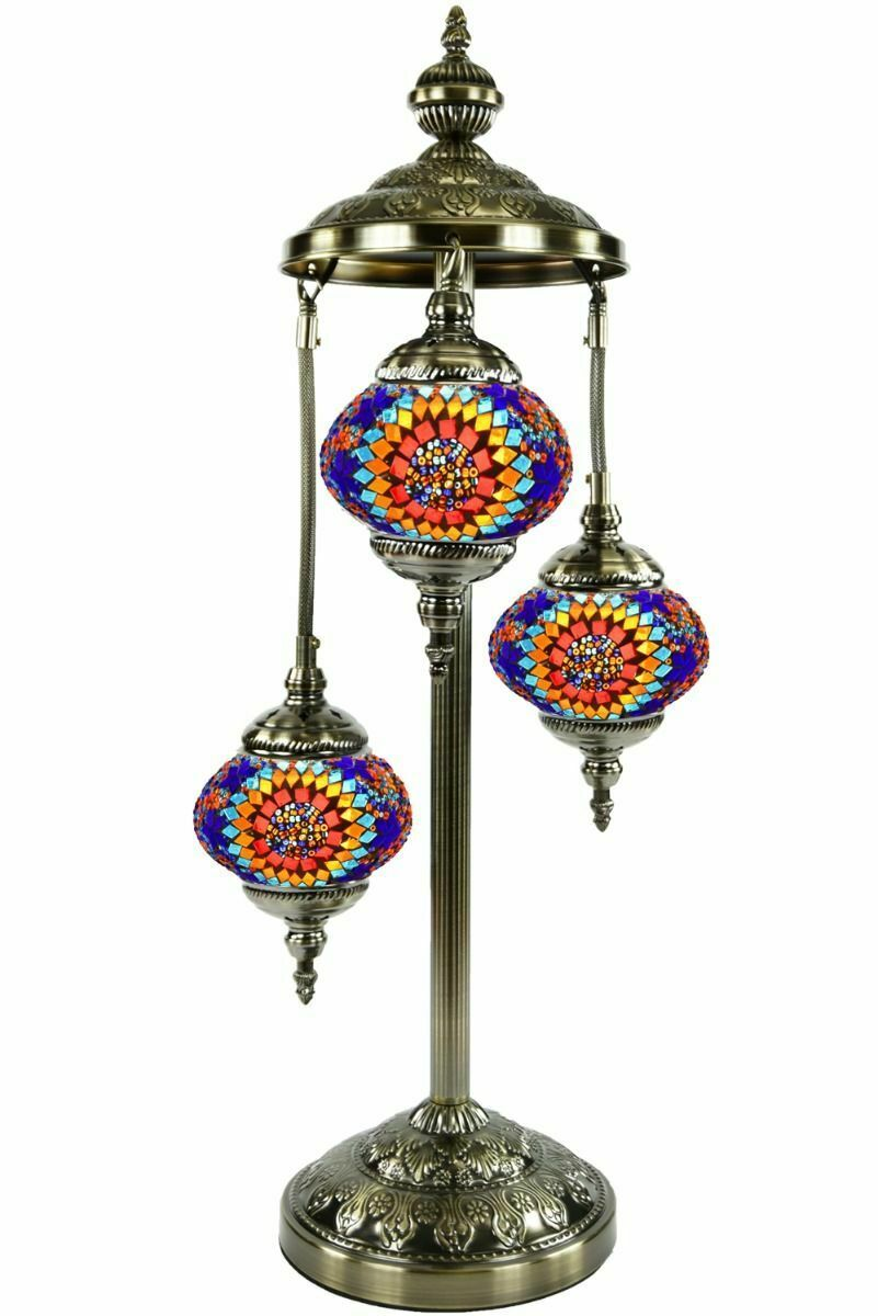 Turkish Moroccan Mosaic Floor Lamp, Hand made Boho-Chic Lamp