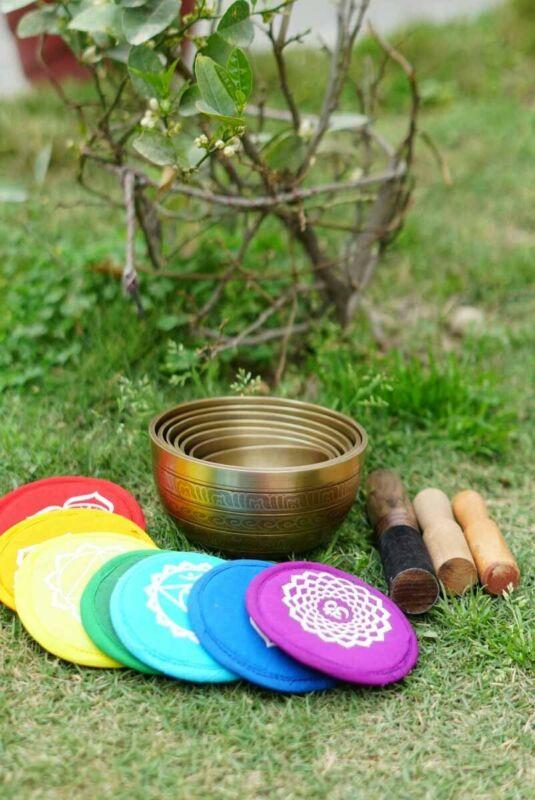 Singing Bowl 7 Chakra set for Healing , Reiki & Meditation