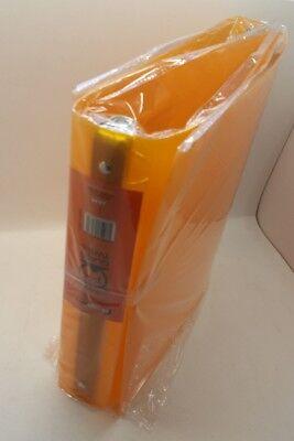 Designders Orange Glass Twill 3 Ring 1 12 1.5 Inch Binders Lot X2 Rg4522