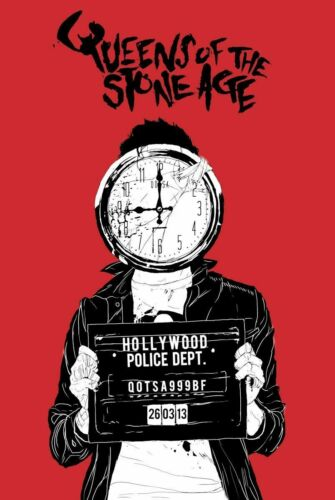 QUEENS of the STONE AGE Hollywood Police Rock Music Poster 24 x 36 in
