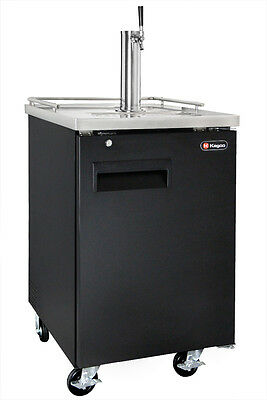 Kegco Single Keg Commercial Grade Kegerator With Sankey Direct Draw Kit - Black