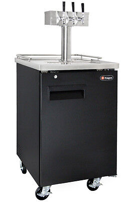 Kegco 3 Tap Commercial Direct Draw Beer Dispenser Keg Cooler - No Dispense Kit