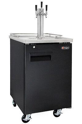 Kegco Commercial Grade Homebrew Kegerator Triple Tap Keg Dispenser Black