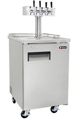 Kegco 4 Tap Commercial Direct Draw Beer Dispenser Stainless Kegerator Keg Cooler