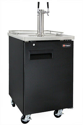 Kegco Dual Tap Commercial Grade Kegerator Black