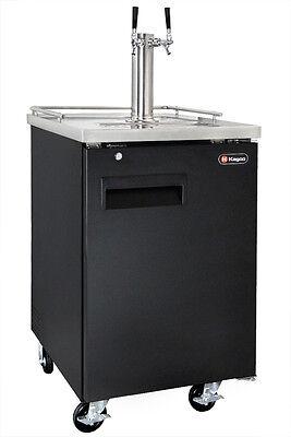 Kegco Commercial Grade Homebrew Kegerator Dual Tap Keg Dispenser Black