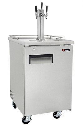 Kegco Commercial Grade Homebrew Kegerator Triple Tap Keg Dispenser Stainless