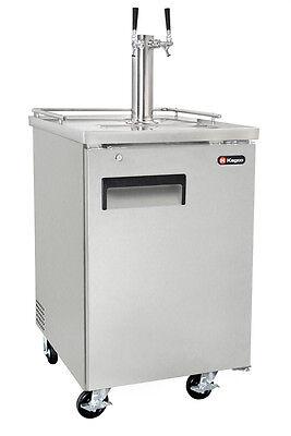 Kegco Commercial Grade Homebrew Kegerator Dual Tap Keg Dispenser Stainless Steel
