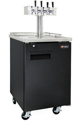 Kegco Commercial Grade Homebrew Kegerator Four Tap Keg Dispenser Black