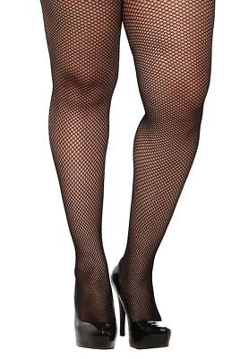 TORRID FASHION BLACK SPANDEX FISHNET FOOTED TIGHTS PLUS SIZE 1X/2X OR 3X/4X NWT