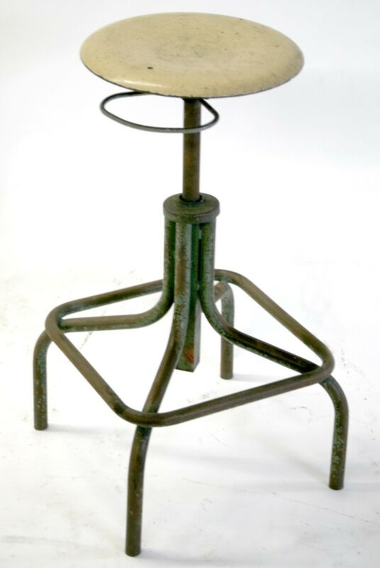 FRENCH  MODERNIST INDUSTRIAL DRAWING STOOL HELIOLITHE
