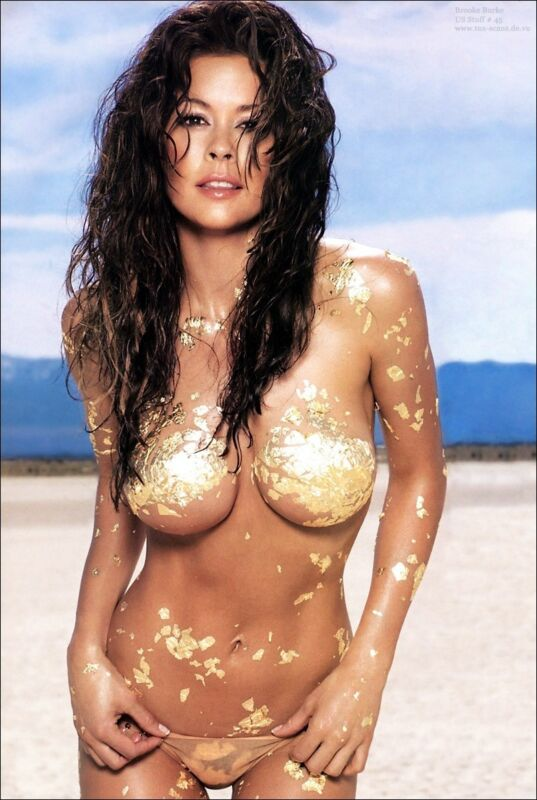 Brooke Burke With Gold In The Body 8x10 Photo Print
