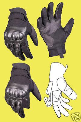 MIL SEK Polizei Security Leder Handschuhe GEN. II Knöchelschutz Protektoren ()