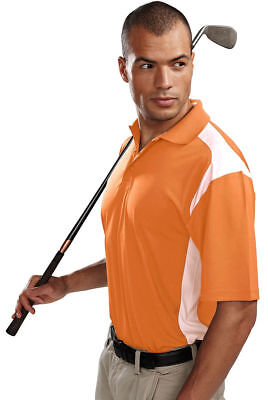 Tri Mountain Mens Performance Short Sleeve Three Button Placke Golf Shirt  145