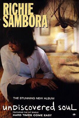 BON JOVI SAMBORA 1998 UNDISCOVERED SOUL PROMO POSTER ORIGINAL